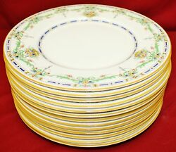 Royal Doulton The Ormonde Rn727718 Lunch Plates - Set Of 13 - Mint