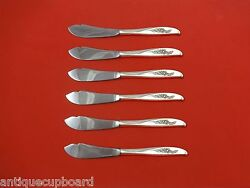 Penrose By Wallace Sterling Silver Trout Knife Set 6pc. Hhws Custom Made 7 1/2