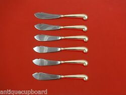 Queen Anne-williamsburg By Stieff Sterling Trout Knife Set 6pc. Hhws Custom