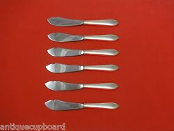 Reeded Edge By And Co Sterling Silver Trout Knife Set 6pc Custom 7 1/2