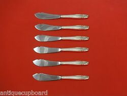 Stradivari By Wallace Sterling Silver Trout Knife Set 6pc. Hhws Custom 7 1/2