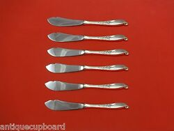 Wishing Star By Wallace Sterling Silver Trout Knife Set 6pc. Hhws Custom 7 1/2