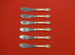 Monticello By Lunt Sterling Silver Trout Knife Set 6pc. Hhws Custom Made 7 1/2