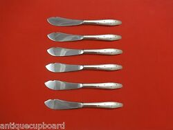 Dawn Star By Wallace Sterling Silver Trout Knife Set 6pc. Hhws Custom 7 1/2