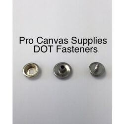 Stainless Steel Dot Button Socket And Screw 8 Kit 3/8 20 Sets