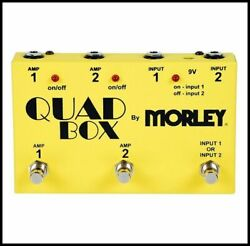 Morley Quad Box Foot Switch Guitar and Amp Switcher Effects pedal