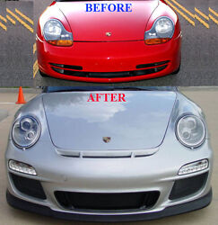 Porsche 996 to 997 Front Face Lift conversion in STEEL METAL (Factory Fitment)