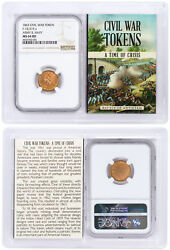 Civil War Token - 1863 F-15/319 A - Army And Navy Ngc Ms64 Rd Story Vault