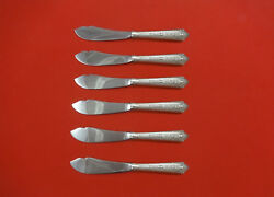 Normandie By Wallace Sterling Silver Trout Knife Set 6pc. Hhws Custom 7 1/2