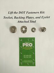 Lift The Dot S.s Socket Backing Plates And Eyelet Attached Stud 75 Sets