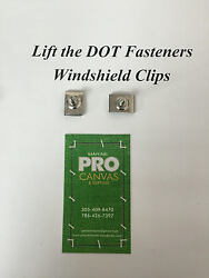 Lift The Dot Fasteners Stainless Steel Windshield Clips 3/4 10 Pieces