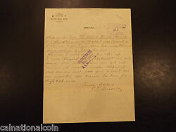 1893 Office Of Silver Bell Mine Letter