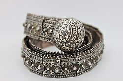 ANTIQUE ORIGINAL PERFECT SILVER RUSSIAN AMAZING HEAVY BELT