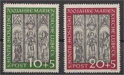 Germany Rep. Fed. Marienkirche Luebeck 1951 Mint Never Hinged