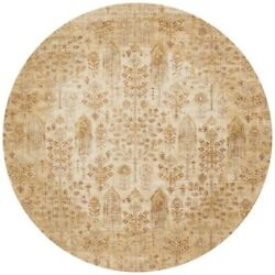 Loloi Anastasia 9and0396 Round Rug In Ant Ivory And Gold
