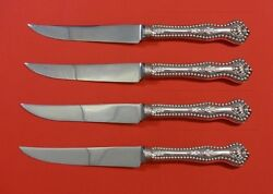 Charles Ii By Dominick And Haff Sterling Silver Steak Knife Set 4pc Hhws Custom