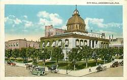 Florida FL Jacksonville City Hall 1920's Postcard