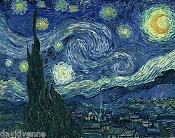 Starry Night By Van Gogh 9 X 12 Inch Image On Zweigart Needlepoint Canvas