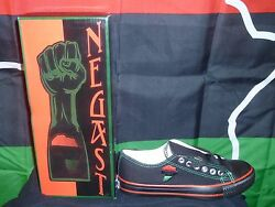 Womens Size 8-12 Casual Sneakers Red , Black , Green African Print