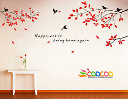 Wall Decor Decal Sticker Removable tree branch birds small 2 colors DC0305