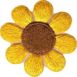 22079 Yellow Brown Pretty Daisy Flower Hippy Hippie Cute Badge Sew Iron Patch