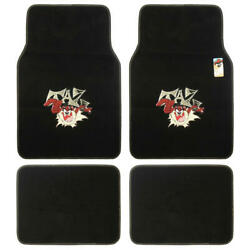 Official Products Wb Taz Floor Mats For Car Suv - Fan Mats 4 Piece Carpet