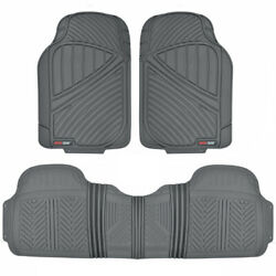 Motortrend Floor Mat For Car Suv Heavy Duty 3 Pc All Weather 100 Odorless Gray