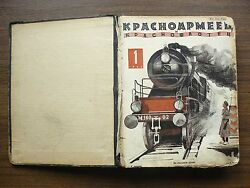 Russian Soviet Magazine Red Army And Navy Man N 1 - 24 1929 Complete Year Set Rr