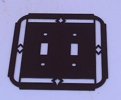 Southwestern New Mexican Double Light Switch Cover Plate Metal Decor