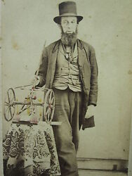 1870 -80s Inventor Invention Boyertown Berks County Pa Cdv Photograph Top Hat
