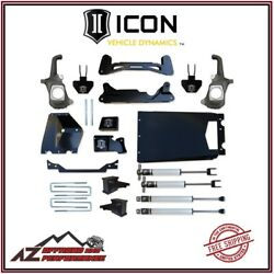 Icon 6-8 Stage 1 Suspension System Torsion Drop For 2011-2016 Gm 2500 Hd 3500