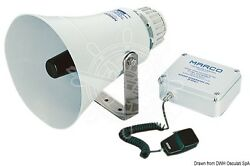Marco Electric Horn With Amplifier Microphone Fog Signal Boat Marine 24v
