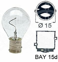 Osculati Box Of 10 Vertical Filament Bulbs 24v 25w With Offset Poles