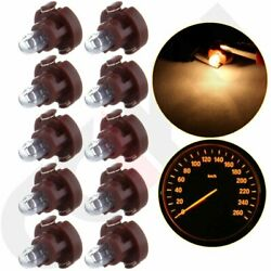 10Pcs T3 Neo Wedge Halogen bulb A/C Heater Climate Control Light Warm White 12V