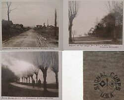 Antique Ww1 Us Signal Corps Photos Battle Chateau Thierry France 1918 Pershing