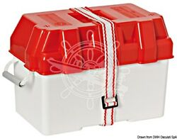 Osculati White / Red Moplen 100ah Battery Box With Fastening Strap And Buckle