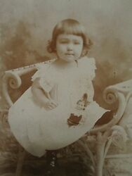Antique American Early Toy Boy Girl Lancaster Nh Rosebrook Cabinet Photo