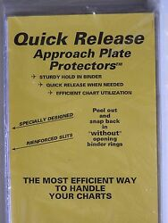 Quick Release Approach Plate Protectors For 7 Ring Binders Jeppesen 10-pack