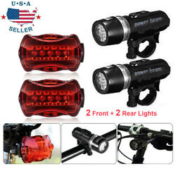 Waterproof 5 LED Lamp Bike Bicycle Front Head LightRear Safety Flashlight 2 Set $9.99