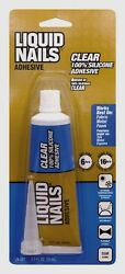 New LIQUID NAILS Clear Small Projects Silicone Adhesive Glue 2.5 oz. LN 207 $10.79