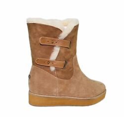 Australia Luxe Collective Women's Sexy Bushmill Wedge Buckle Boots Shoes New