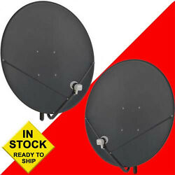 Two 2 36 Inch 90 Cm Free To Air Fta Satellite Dishes And 2 Free Hd Pll Lnbfs
