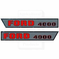 Made To Fit Ford Tractor Hood Decals Model 4000