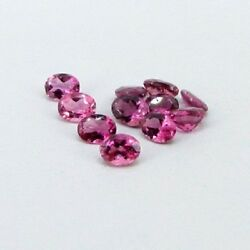 Natural Pink Tourmaline Oval Cut 3X4 mm To 6X8 mm VS Quality Loose Gemstone