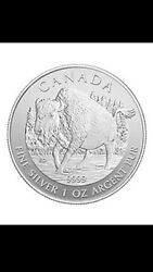 1 Oz 9999+ Pure Silver Coin Canadian Wood Bison 2013 Limited Edition