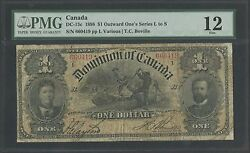 Canada Dc-13c 1898 1 Outward Oneand039s Series L To S Pmg Fine 12 Bt364