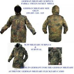 Authentic German Military Flecktarn Camo Parka Shell - Fits A 50-52chest - New