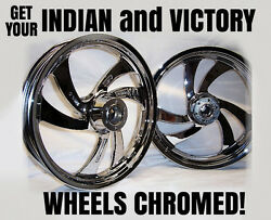 Get Your Indian & Victory Wheels Chrome Plated by Sport Chrome & SAVE HUNDREDS!