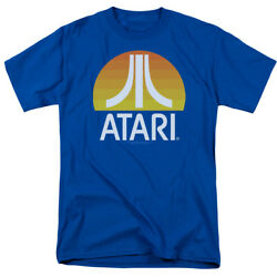 Atari Sunrise Logo Gamer Licensed Adult T-Shirt