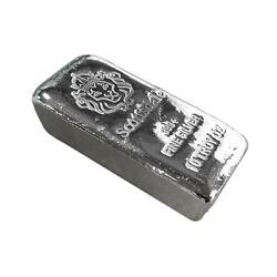 10 Oz .999 Silver Bar By Scottsdale Mint Loaf Pour Chunky A396